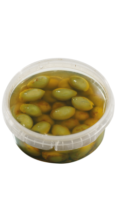 HIGH  Almi-Chili GreenOlives-250g-bowl